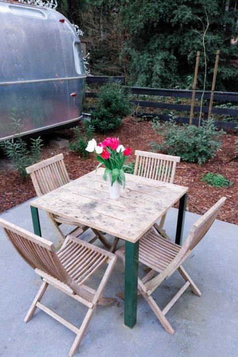 airstream glamping-campground patio