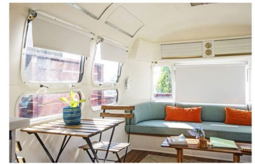 airstream glamping-retreat in la living area