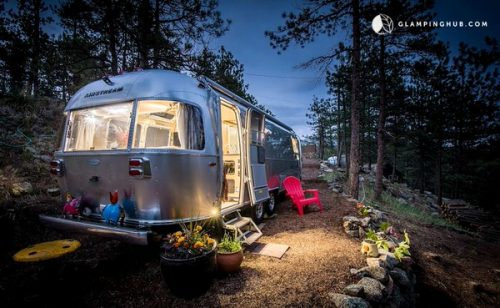 airstream glamping-rocky mountains exterior