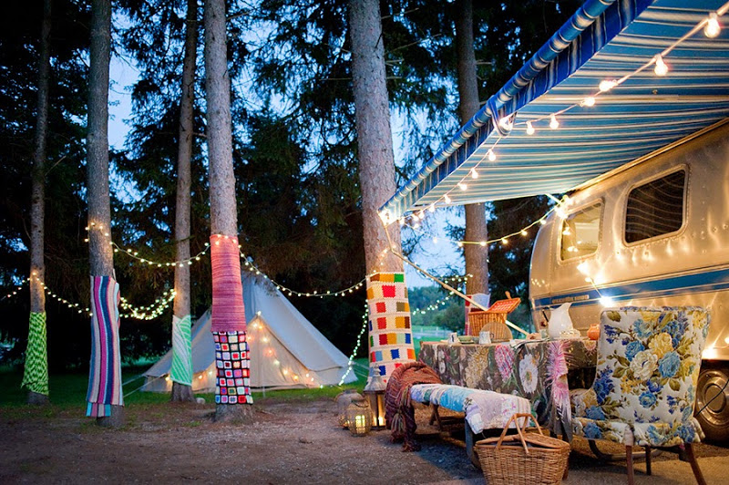 airstream camping party