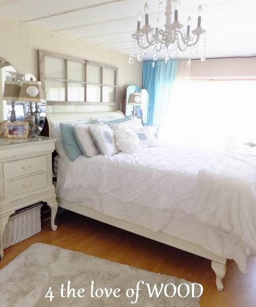 Amazing mobile home white bedroom 14
