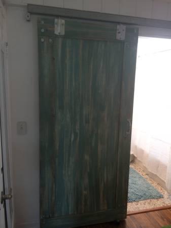 barn door in a mobile home