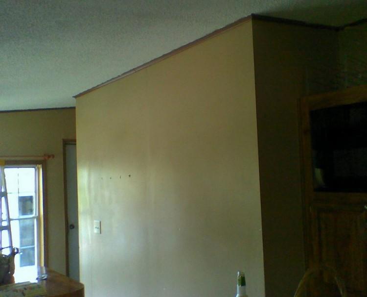 Basement entrance modification in a mobile home