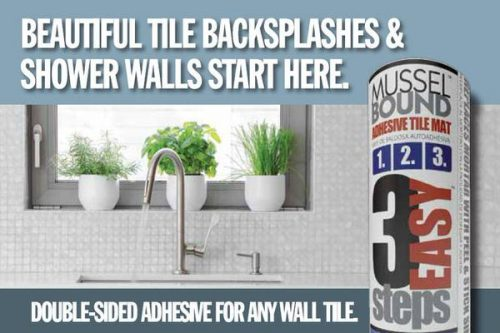 bathroom before and after-musselbound adhesive