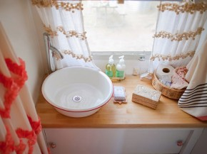 bathroom in Adorable airstream