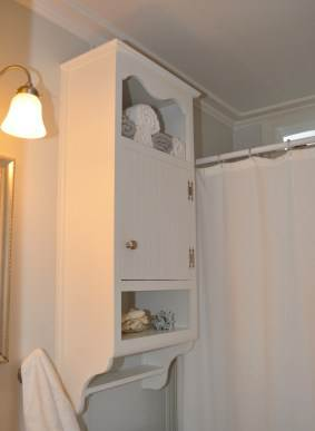 bathroom storage - mobile home remodel