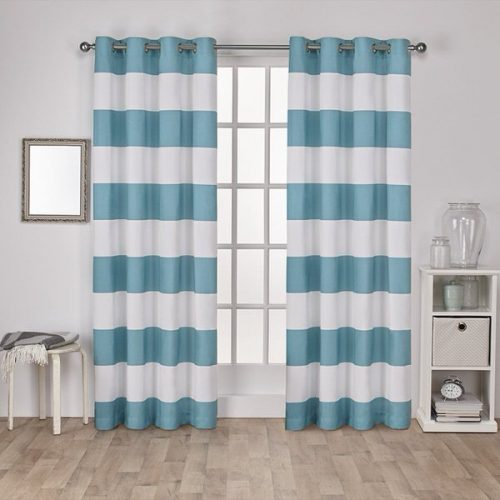 beach theme decor-curtains