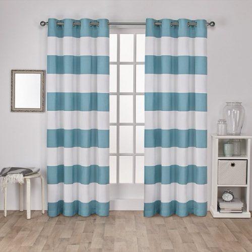 beach theme decor-curtains