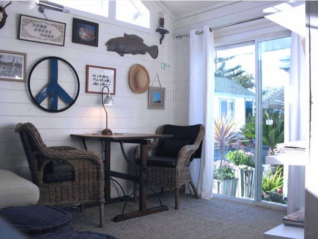 beach theme decor-park model interior