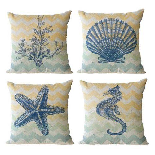 beach theme decor-pillow covers