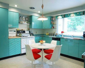 beautiful blue kitchen design
