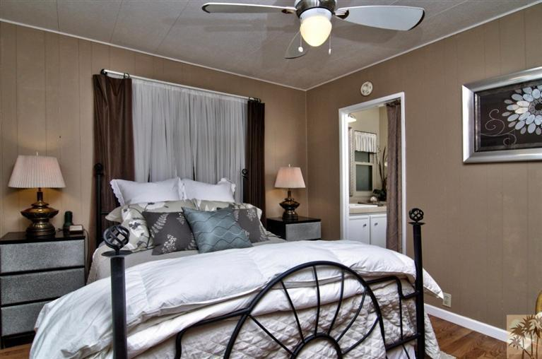 Beautiful manufactured home tour -bedroom
