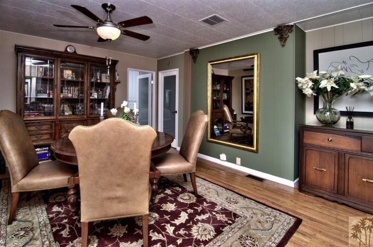 beautiful manufactured home tour - dining room 2