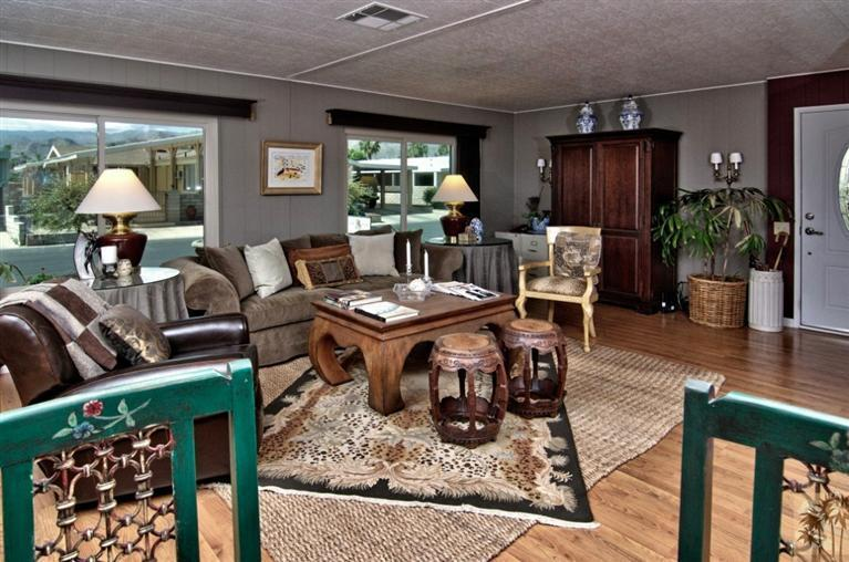 beautiful manufactured home tour - living room 2