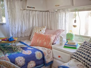 bed area in adorable airstream