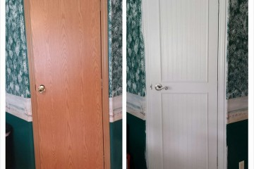 before and after interior door makeover