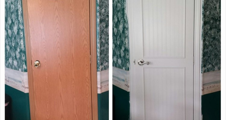 . Mobile Home Interior Door Makeover