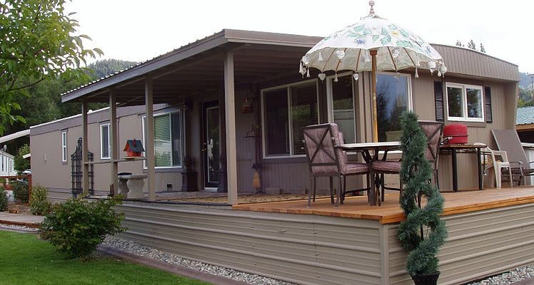 9 beautiful manufactured home porch ideas mobile home living for Adobe style mobile homes