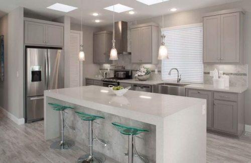 best new manufactured home design-kitchen island