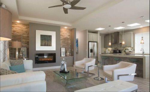 best new manufactured home design-living room 2