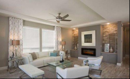 best new manufactured home design-living room