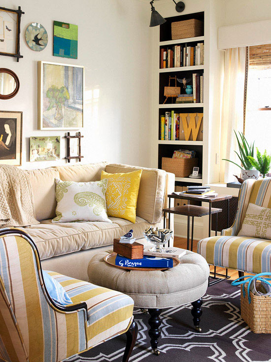 Beginner 39 s guide to small space decorating for Living room small spaces decorating ideas
