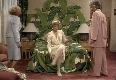 blanches bedroom from the golden girls - green home decor
