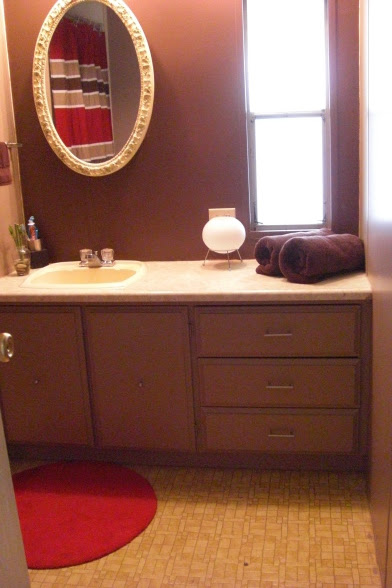 single wide makeover-small bathroom after