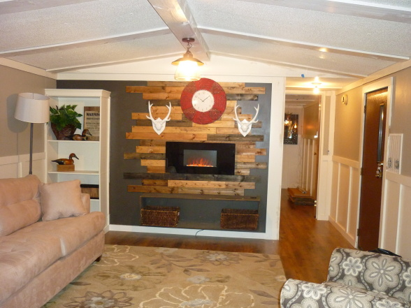 Modern single wide mobile home update-after the remodel