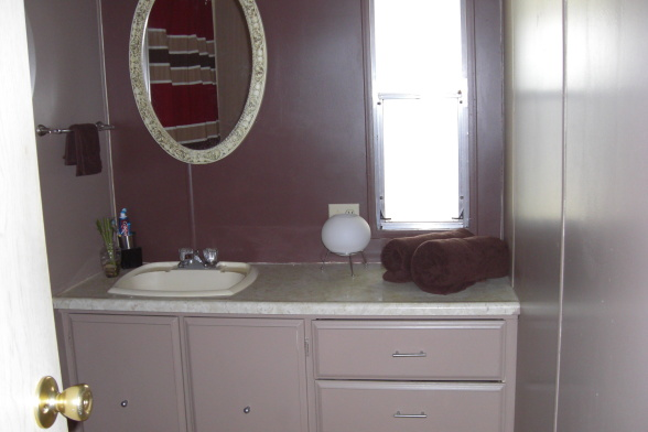 single wide makeover-small bath after