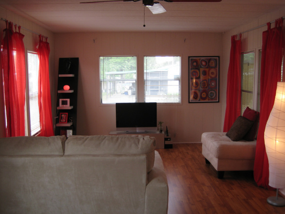 Colorful Low Cost Single Wide Room Ideas Mobile Home Living