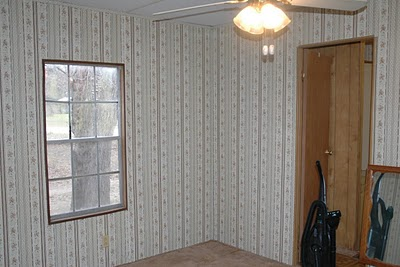 Becky's mobile home makeover-bedroom - before
