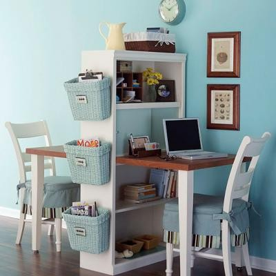 19 Great Home Office Ideas for Small Mobile Homes - double duty desk