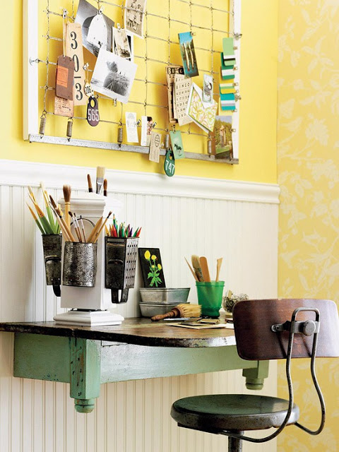 19 Great Home Office Ideas for Small Mobile Homes -  primitive country