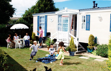 exterior of european mobile homes
