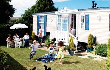 exterior of european mobile homes