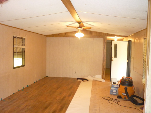 modern single wide mobile home update-during the remodel