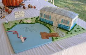 mobile home and camper themed cakes