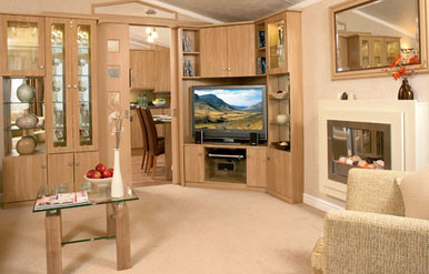 interior of european mobile homes