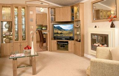 interior of european mobile homes