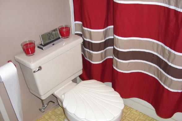 single wide makeover-red bathroom