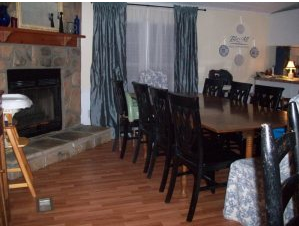 French country style double wide manufactured home makeover - dining room after