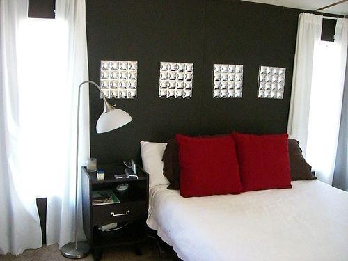 single wide makeover-remodeled bedroom