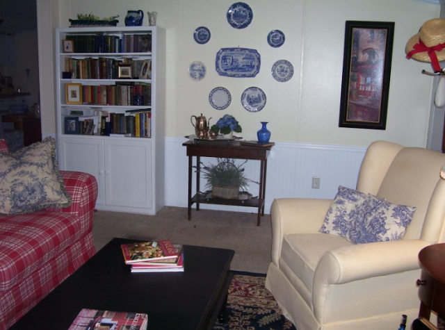 French Country Style Double Wide Manufactured Home Makeover - Living room after