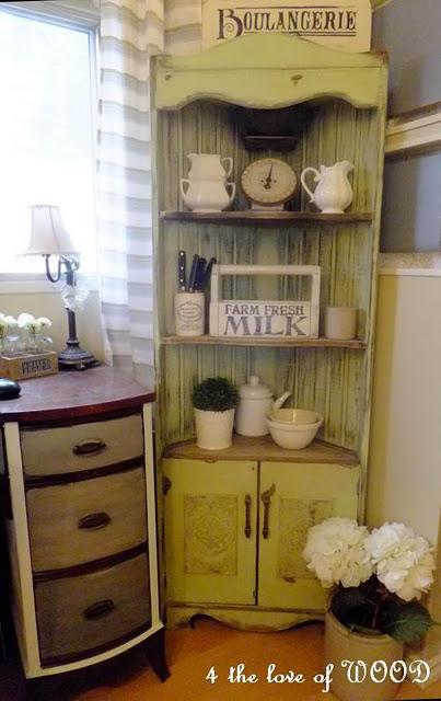 Amazing mobile home-corner cabinet