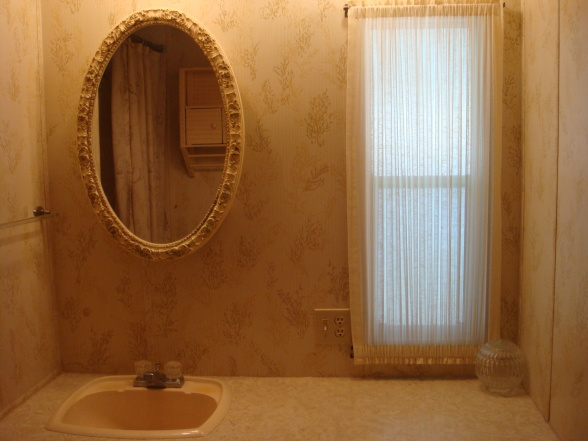 single wide makeover-small bathroom
