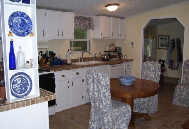 double wide manufactured home makeover - kitchen after complete makeover