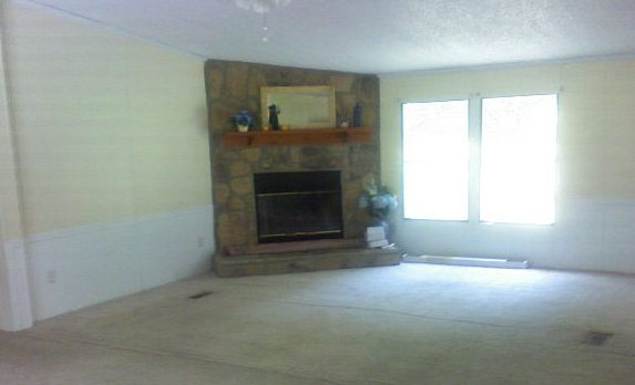 French Country Double Wide Manufactured Home Makeover - after walls were painted