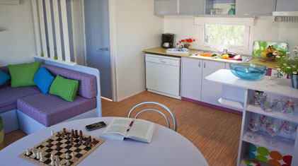 interior of an european mobile home/caravan