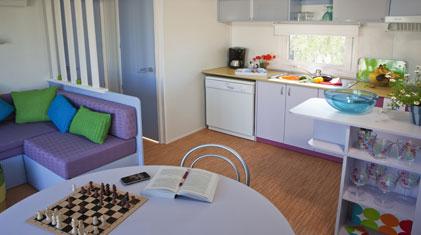 interior of an european mobile home/caravan